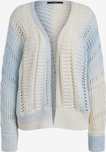 SET Knit Cardigan in Light blue / White, Item view