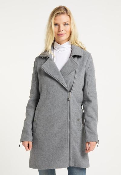 DreiMaster Vintage Mantel in grau, Modelansicht