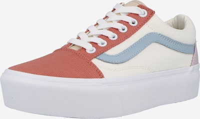 Sneaker low VANS pe crem / albastru fumuriu / mov liliachiu / roșu pastel, Vizualizare produs