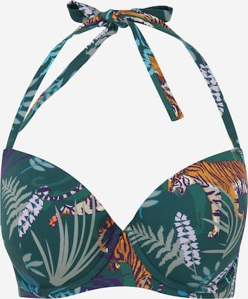 zaļš ETAM Bikini augšdaļa 'AMOUR'