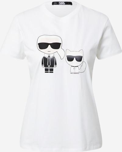 Karl Lagerfeld Majica u nude / crna / bijela, Pregled proizvoda