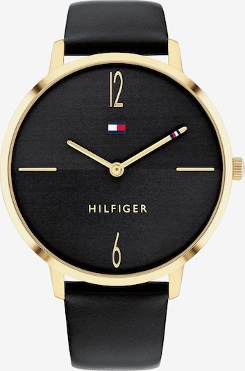 TOMMY HILFIGER Uhr in gold / schwarz, Produktansicht