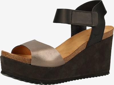 SANSIBAR Sandale in gold / schwarz, Produktansicht