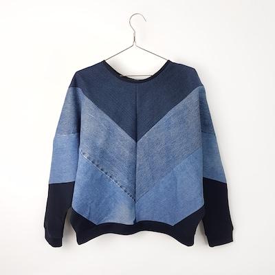 Bridge & Tunnel Sweatshirt 'Denim' in blau, Produktansicht