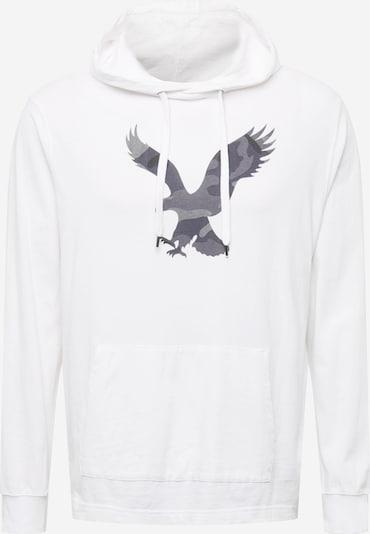 American Eagle Суичър в антрацитно черно / опушено синьо / тъмносиво / бяло, Преглед на продукта