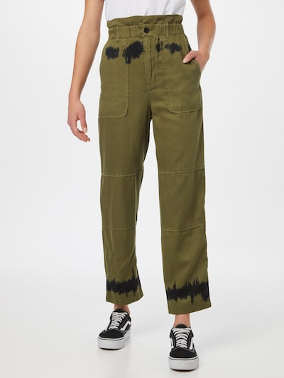 REPLAY Hose in khaki / schwarz, Modelansicht