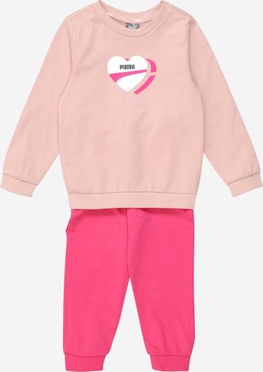 PUMA Jogginganzug 'Alpha' in rosa / pitaya / schwarz / silber, Produktansicht