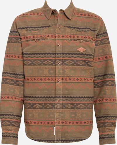 Picture Organic Clothing Functioneel overhemd 'TUCSON' in de kleur Blauw / Olijfgroen / Gemengde kleuren, Productweergave