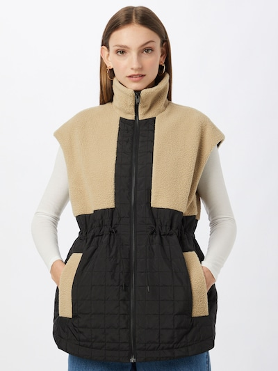 SELECTED FEMME Vest in Beige / Black, View model