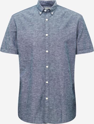 EDC BY ESPRIT Риза в гълъбово синьо / бяло, Преглед на продукта