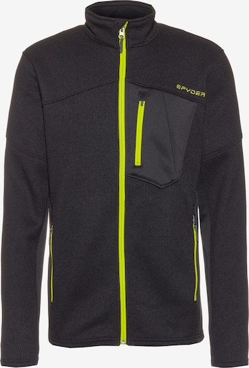 SPYDER Athletic Fleece Jacket 'Bandit' in Neon yellow / Black, Item view