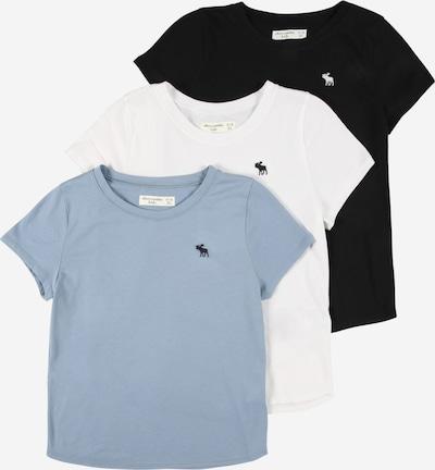 Abercrombie & Fitch Majica u sivkasto plava / crna / bijela, Pregled proizvoda