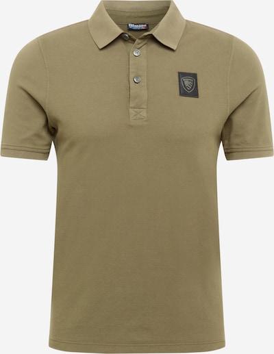 Blauer.USA Poloshirt in oliv / schwarz, Produktansicht