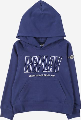 REPLAYSweater majica - plava boja