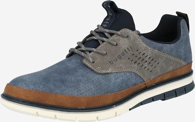 bugatti Schnürschuh 'Sandman' in taubenblau / braun / grau / weiß, Produktansicht