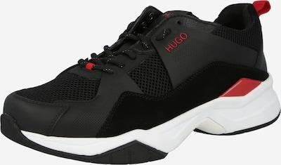 Sneaker low HUGO pe roșu / negru, Vizualizare produs
