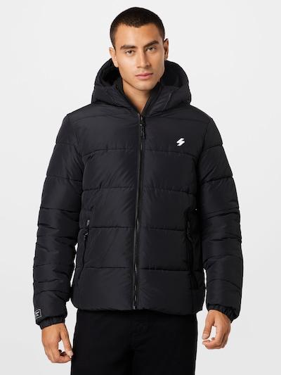 Superdry Jacke in schwarz / weiß: Frontalansicht