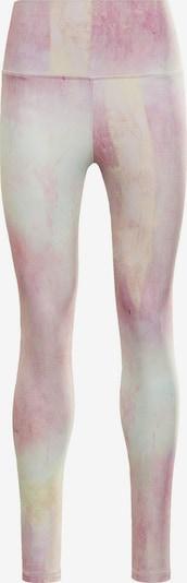 Reebok Sport Pantalon de sport en crème / jaune clair / orchidée / rose clair, Vue avec produit