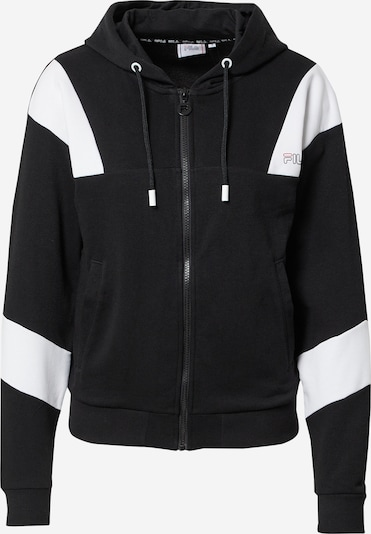 FILA Sportsweatjacka 'JAELA' i svart / vit, Produktvy