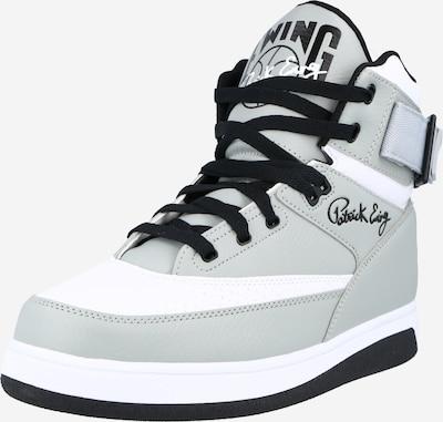 Patrick Ewing Sneakers hoog in de kleur Grijs / Zwart / Wit, Productweergave