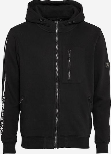 Herrlicher Sweatshirt 'Morris' in schwarz / weiß, Produktansicht