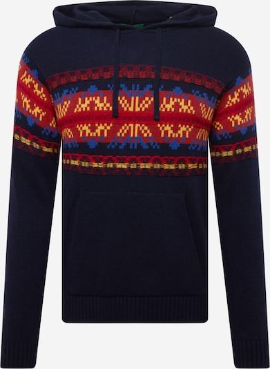 UNITED COLORS OF BENETTON Džemperis, krāsa - karaliski zils / tumši zils / dzeltens / sarkans, Preces skats