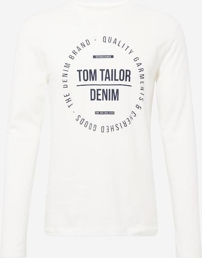 TOM TAILOR DENIM T-Shirt en bleu marine / blanc, Vue avec produit
