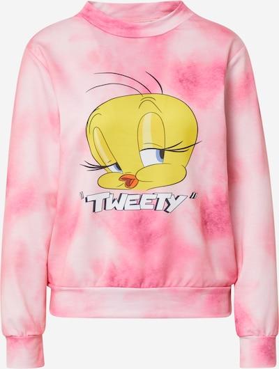 Bluză de molton Trendyol pe galben / roz / alb, Vizualizare produs