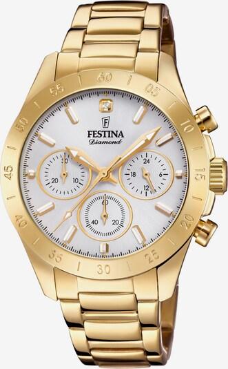 FESTINA Uhr in gold / weiß, Produktansicht