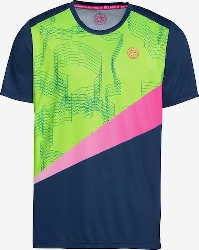 BIDI BADU T-Shirt Jarol mit coolem Allover-Print in petrol / neongrün / pink, Produktansicht