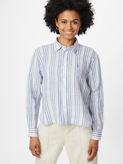 POLO RALPH LAUREN Bluse in rauchblau / weiß, Modelansicht