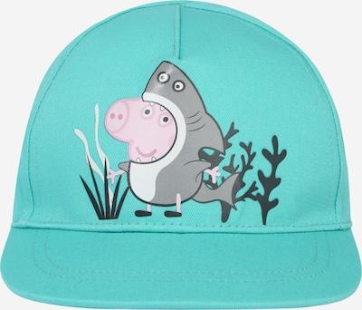 NAME IT Hoed 'PEPPA PIG' in de kleur Turquoise / Stone grey / Rosa / Zwart / Wit, Productweergave