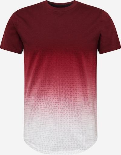 HOLLISTER Tričko - burgundská červeň / bílá, Produkt