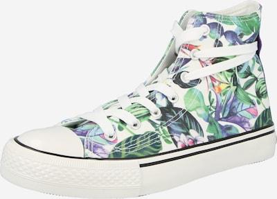 Dockers by Gerli Zapatillas deportivas altas en azul claro / verde / lila / rosa / blanco, Vista del producto