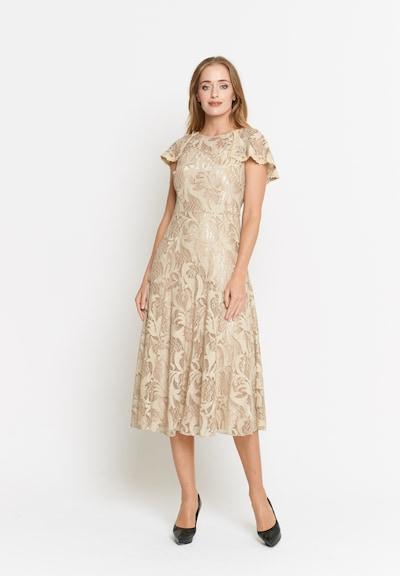 Madam-T Kleid 'Lizabetta' in beige, Modelansicht