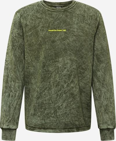 BURTON MENSWEAR LONDON Sweatshirt i gul / mörkgrön, Produktvy