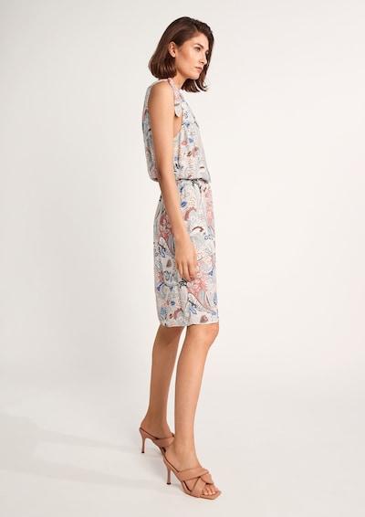 COMMA Kleid in creme / royalblau / koralle / rot / schwarz, Modelansicht