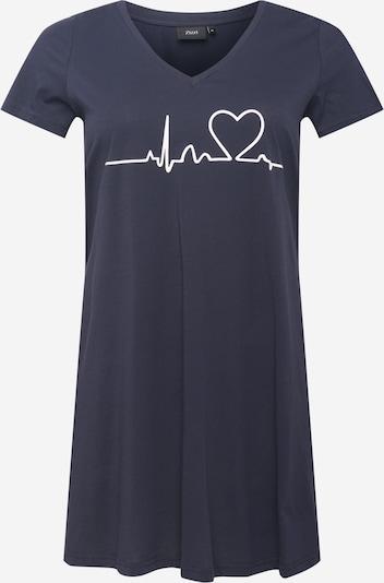 Zizzi Kleid 'MALBA' in nachtblau / weiß, Produktansicht