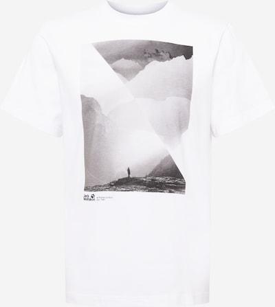 JACK WOLFSKIN T-Shirt in grau / weiß, Produktansicht