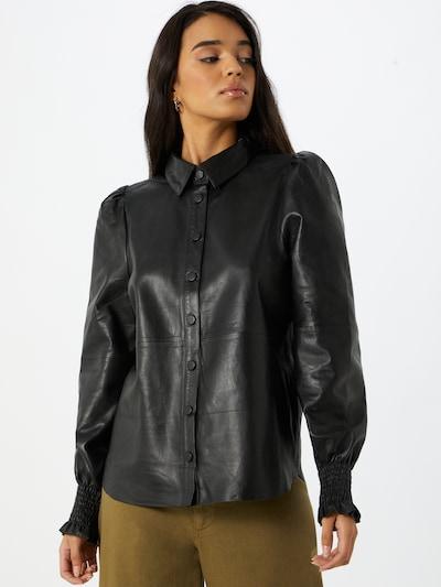 BRUUNS BAZAAR Bluse 'Petrah Robena' in schwarz, Modelansicht