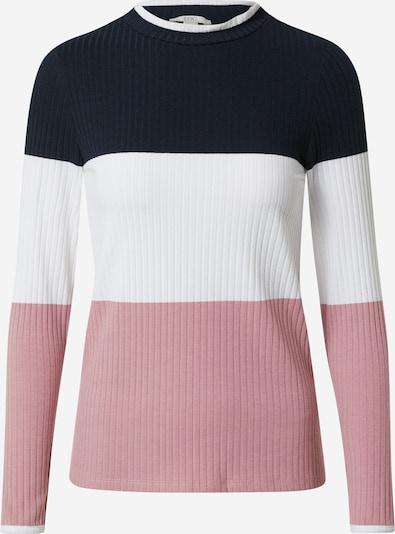 EDC BY ESPRIT Shirt in blau / pink / weiß, Produktansicht