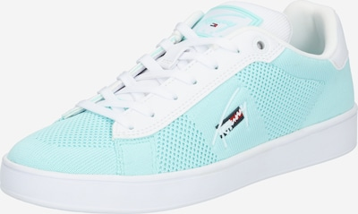 Sneaker low Tommy Jeans pe turcoaz / alb, Vizualizare produs