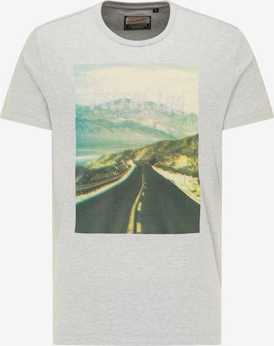 Petrol Industries Shirt in de kleur Hemelsblauw / Lichtgrijs / Grasgroen, Productweergave