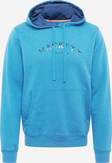 Hackett London Sweat-shirt en bleu marine / bleu clair / jaune pastel / melon, Vue avec produit