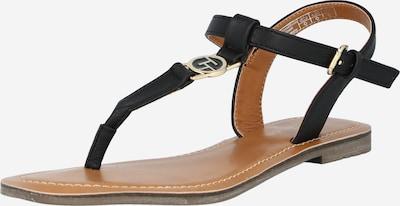 TOM TAILOR T-bar sandals in Black, Item view