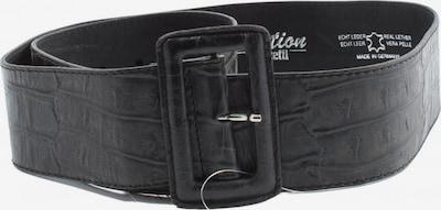 VANZETTI Ledergürtel in XS-XL in schwarz, Produktansicht