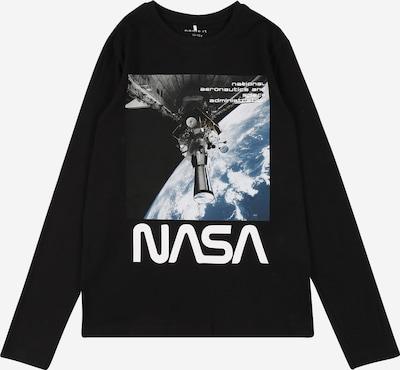 NAME IT Shirt 'Nasa' in blau / schwarz / weiß, Produktansicht