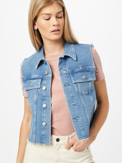 kék farmer Calvin Klein Jeans Mellény 'PRIDE', Modell nézet