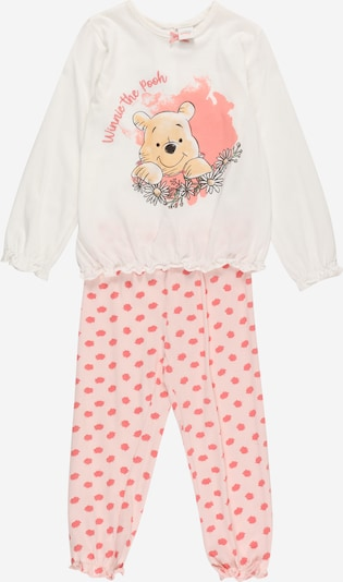 OVS Комплект пижама 'WINNIE' в жълто / корал / бледорозово / черно: Изглед отпред