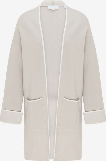 usha WHITE LABEL Strickjacke in beige / weiß, Produktansicht